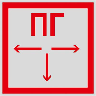 Знаки безопасности на световозвращающей самоклеющией пленке