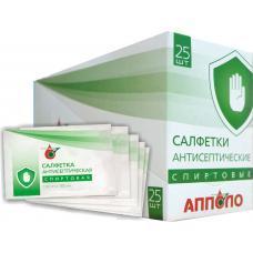 Шоубокс — салфетка антисептическая спиртовая для дезинфекционной обработки тела, приборов и других поверхностей 130мм х 180мм