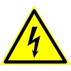 Знак W08 Опасность поражения электрическим током (размер 200х200) светоотражающий