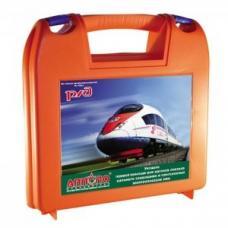 Укладка первой помощи для вагонов поездов дальнего следования и пригородных электропоездов РЖД (в пластиковом чемоданчике)