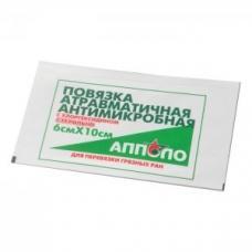 """Повязка антимикробная с хлоргексидином 6х10 """"АППОЛО"""""""