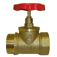 Клапан КПЛП 50-1 51 мм, латунь (ПРЯМОЙ) (15Б3Р, муфта-цапка)