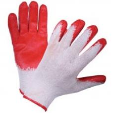 Перчатки х/б с латексным покрытием (один облив)