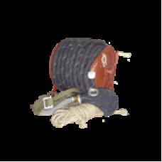 Шланговый противогаз ПШ-20РВ шланг резино-тканевый армированный 20м. Ручная воздуходувка, маска ШМП-1шт.