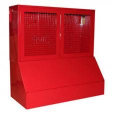 Стенд металлический серий Т закрытого типа с сеткой, с ящиками для песка 0,5 м.куб.