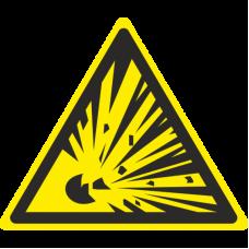 Знак W02 Взрывоопасно (размер 200х200) фотолюминесцентный