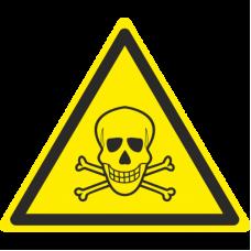 Знак W03 Опасно. Ядовитые вещества (размер 200х200) фотолюминесцентный