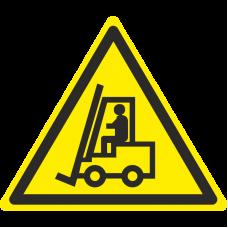 Знак W07 Внимание. Автопогрузчик (размер 200х200)