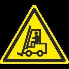 Знак W07 Внимание. Автопогрузчик (размер 200х200) фотолюминесцентный