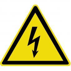 Знак W08 Опасность поражения электрическим током (размер 100х100)