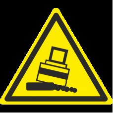 Знак W24 Осторожно. Возможно опрокидывание (размер 200х200) фотолюминесцентный