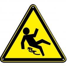 Знак W28 Осторожно. Скользко (размер 200х200)