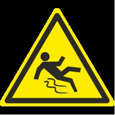 Знак W28 Осторожно. Скользко (размер 200х200) фотолюминесцентный