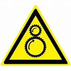 Знак W29 Осторожно. Возможно затягивание между вращающимися элементами (размер 200х200)
