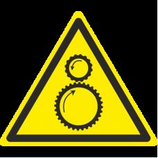 Знак W29 Осторожно. Возможно затягивание между вращающимися элементами (размер 200х200) фотолюминесцентный