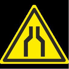 Знак W30 Осторожно. Сужение проезда (прохода) (размер 200х200) фотолюминесцентный