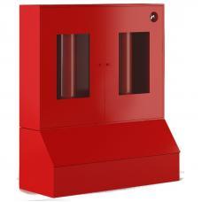 Стенд металлический закрытого типа с окнами, с ящиками для песка