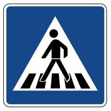 Дорожный знак 5.19.1 (пешеходный переход)