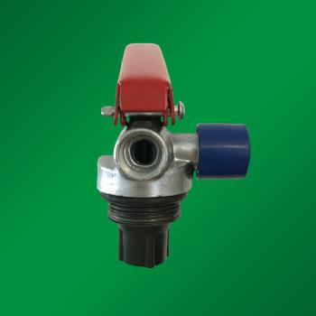 Запорно-пусковое устройство (ЗПУ) к огнетушителям порошковым (ОП-2) с манометром (М-30*1,5), алюминий