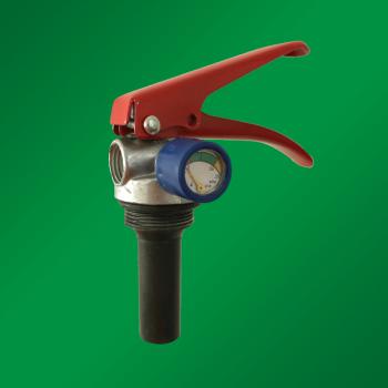 Запорно-пусковое устройство (ЗПУ) к огнетушителям порошковым (ОП-8) с манометром (М-30*1,5 М16*1,5), алюминий