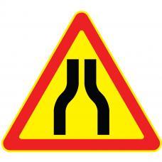 Дорожный знак 1.20.1 Сужение дороги (Временный A=900) Тип А с право на лево