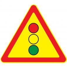 Дорожный знак 1.8 Светофорное регулирование (Временный A=900) Тип А