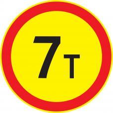 Дорожный знак 3.11 Ограничение массы (Временный D=700) Тип А