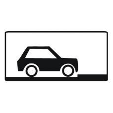 Дорожный знак 8.6.5 Способ постановки транспортного средства на стоянку (350 x 700) Тип Б