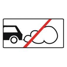 Дорожный знак 8.7 Стоянка с неработающим двигателем (350 x 700) Тип В