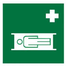 Знак EC02 Средства выноса (эвакуации) пораженных ГОСТ 12.4.026-2015 (Пленка 200 х 200)