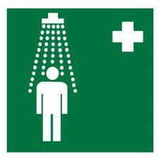 Знак EC03 Пункт приема гигиенических процедур (душевые) ГОСТ 12.4.026-2015 (Пластик 200 х 200)