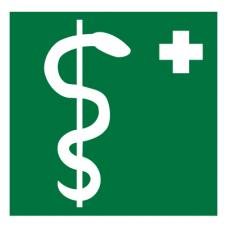Знак EC05 Медицинский кабинет ГОСТ 12.4.026-2015 (Пленка 200 х 200)