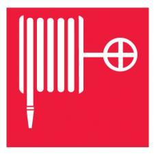 Знак F02 Пожарный кран ГОСТ 12.4.026-2015 (Пластик 200 х 200)