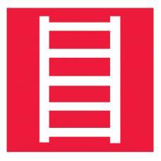 Знак F03 Пожарная лестница ГОСТ 12.4.026-2015 (Пленка 200 х 200)