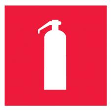 Знак F04 Огнетушитель ГОСТ 12.4.026-2015 (Пленка 100 х 100)