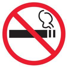 Знак T340 Дополнительный знак о запрете курения Приказ Минздрава России № 214 от 12.05.2014 пункты 2, 6 (Пластик 200 x 200)