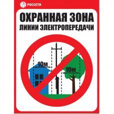 Знак ЗБ.04 «Охранная зона ЛЭП 6-15 кВ - 10 метров» Рисунок 4 СТО 34.01-24-001-2015 (Металл 400 х 300)